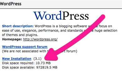 Install WordPress blog