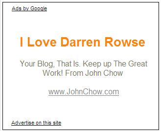 John Chow loves Darren Rowse