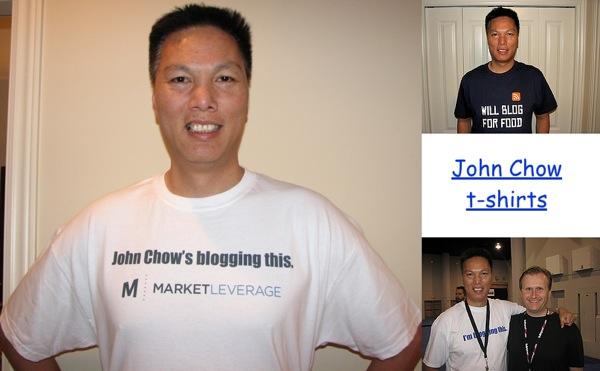 John Chow t-shirts